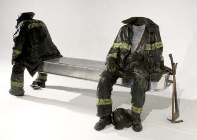 """After the Fire Bronze, 2003 53""""h x 96""""w x 41""""d"""