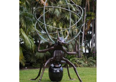 """Atlas Ant Bronze, 2016 168""""h x 96""""w"""