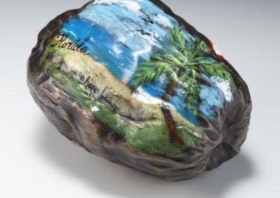 Coconut Postcard Bronze Life size
