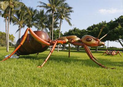 """Queen Ant Bronze, 2006 84""""h x 235""""w x 288""""d"""