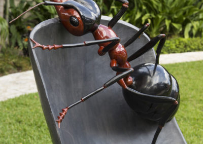 "Safari Chair Bronze, 2014 45""h x 29 ½""w x 49 ½""d"