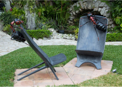 Safari Chairs with Ants Bronze, 2014
